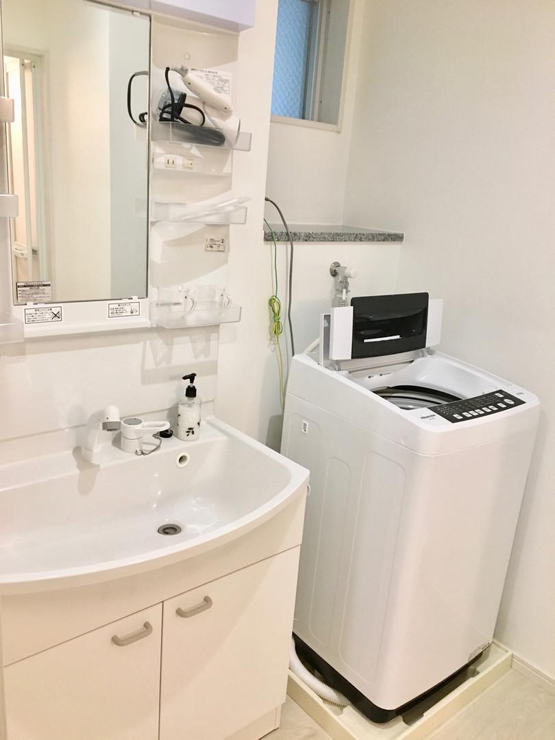 A-style Futenma 普天間 2-A号室 内装 洗濯機 洗面所