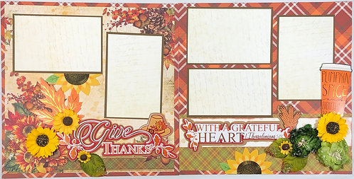 Give Thanks With a Grateful Heart Layout Kit
