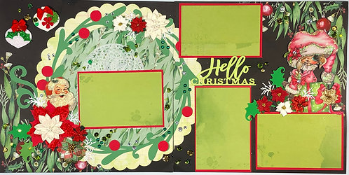 Hello Christmas Pre-Made Layout
