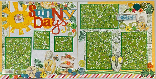 Sunny Days Pre-Made Layout