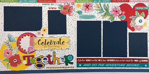 Celebrate Together Pre-Made Layout