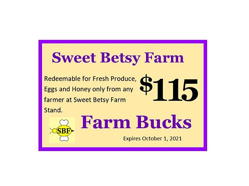 Farm Bucks - $115 worth for $100