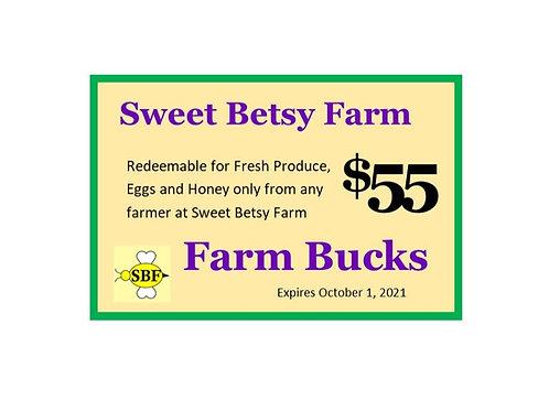 Farm Bucks - $55 worth for $50