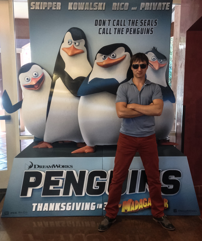 "Joining the secret forces of ""Penguins of Madagascar""."