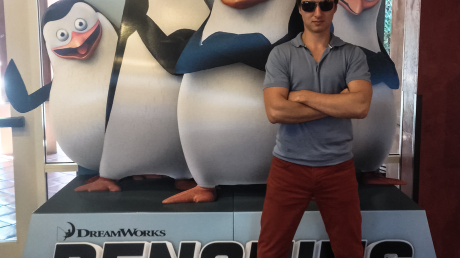 """Joining the secret forces of """"Penguins of Madagascar""""."""