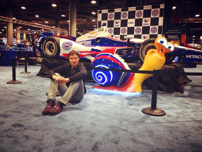 At LA car show