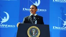President Barack Obama visits DreamWorks