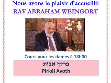 Conférence Rav Weingort
