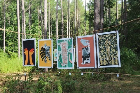exhibition in the woods