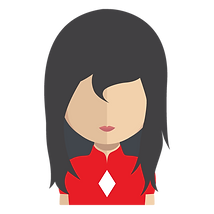 Dark haired young lady clip art