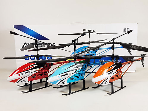 Aviator RC Heli Sky King Alloy Metal Remote Control RC Helicopter Drone RTR 3.5C