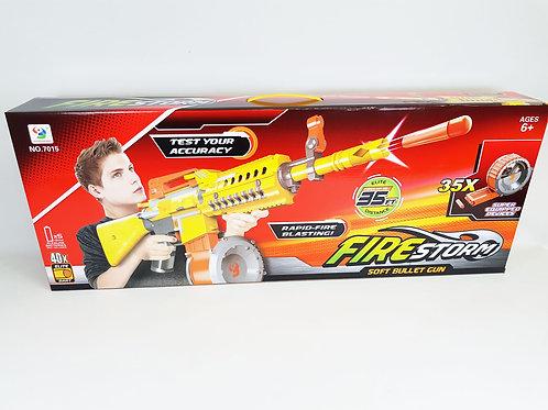 7015 FIRESTORM SOFT BULLET GUN KIDS TOYS - FUN FIRE STORM POWER SHOOTING SOFT FO