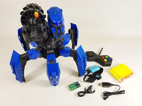 Silver Battleax Soft Dart Blaster Space Warrior Radio Control RC Robot Spider