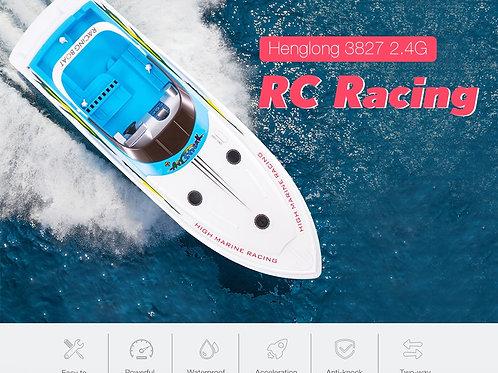 Heng long Atlantic Century 3827 68cm 2.4G RC Racing Boat 25kmh Rowing Speed Boat