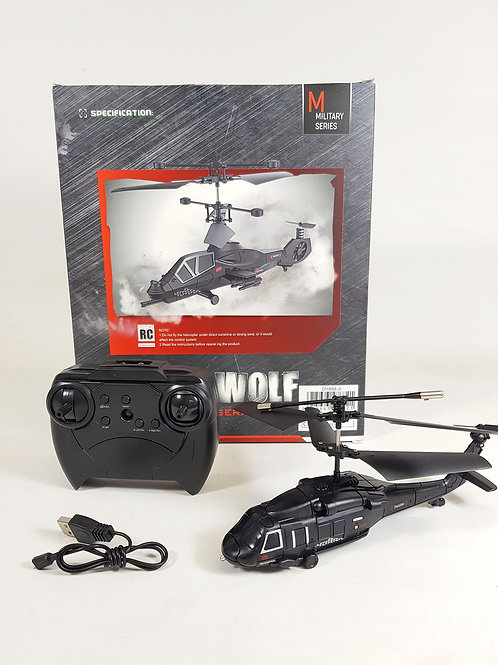 DH Radio Control RC Model Fly Wolf Apache Chinook Military HAWK Helicopter 3.5CH