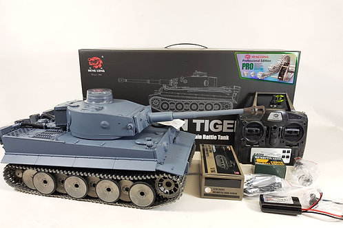 NEW Heng Long Radio Remote Control Rc German Tiger Tank SUPER PRO VERSION 7