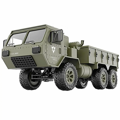 FY004A 1/12 2.4G 6WD Rc Car Proportional Control US Army Military Truck Toy