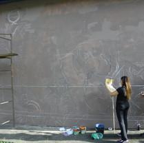 Mural para o Departamento de Arte e Cultura da Universidade Federal de Santa Catarina, em colaboração com o artista Digo Tertschitsch
