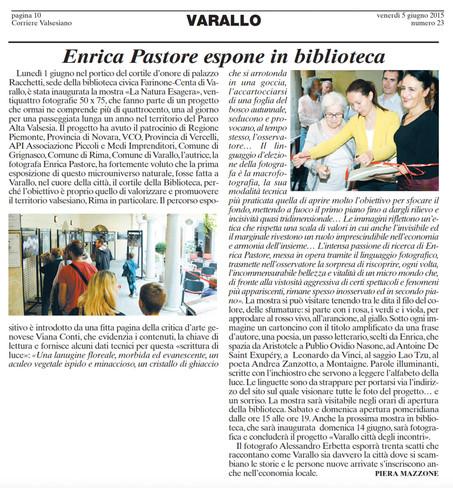 Corriere Valsesiano del 05.06.2015