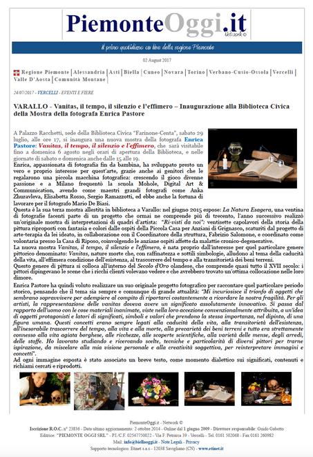PiemonteOggi.it del 2 agosto 2017
