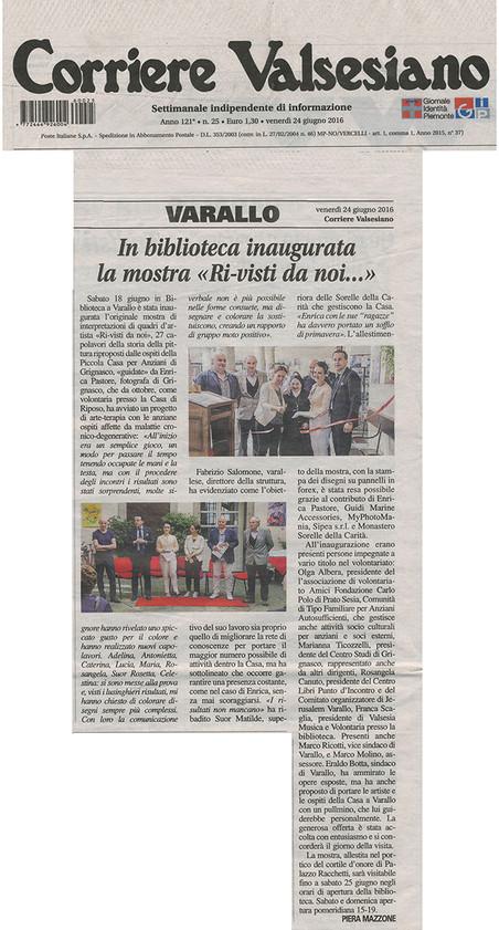 Corriere Valsesiano del 24.06.2016