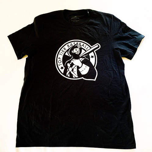 Bearded Guy Black Cotton Tee