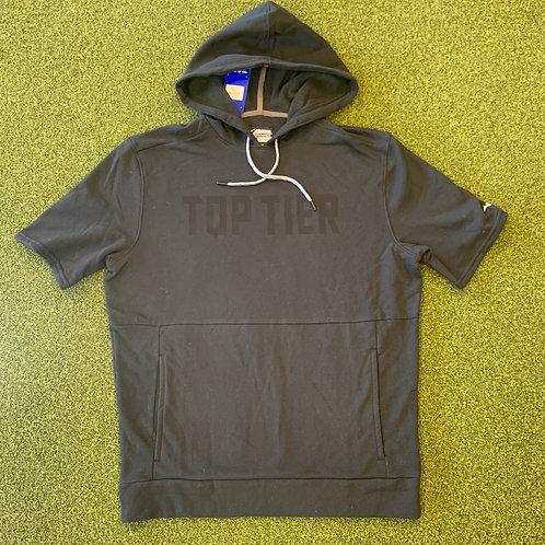Mizuno Short Sleeve Hoodie Black