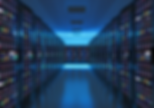 Sala de servidores em tons de azul