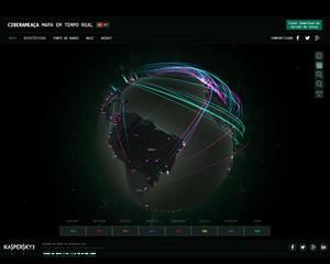 Mapa estatístico de ataques cibernéticos