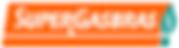 Logotipo da Supergasbras, letras brancas, em fundo laranja e logomarca da empresa