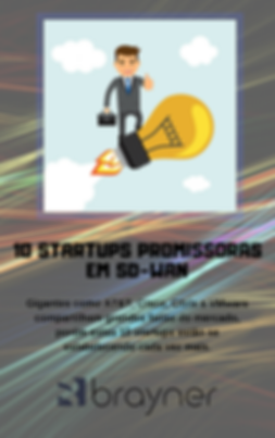 Capa do Ebook as 10 startups promissoras em SD-WAN