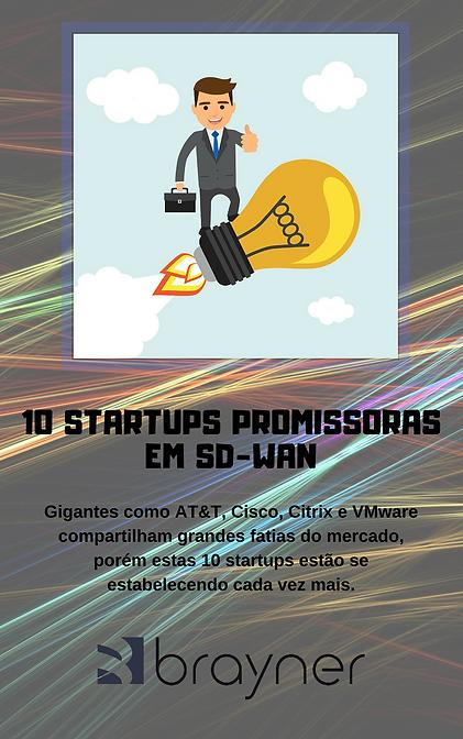 Capa do Ebook as 10 startups promissoras em SD-WAN