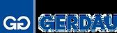 Logotipo da Gerdau e letras azuis