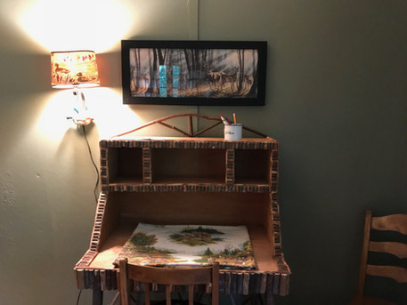 Desk for journaling or writing post cards