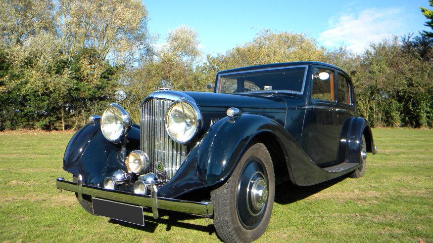 1938 Bentley 4 1/4 Litre Vanden Plas Pillarless Saloon