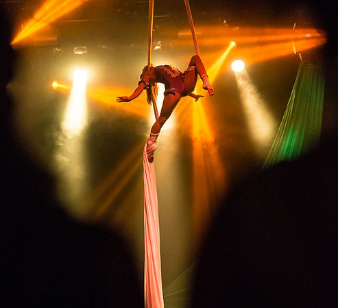 Aerialist, cirque performers, acrobats, nightlife party san diego, on stage performance, observatory north park, north park carnival
