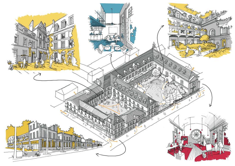 Dessins d'Architecture à main levée