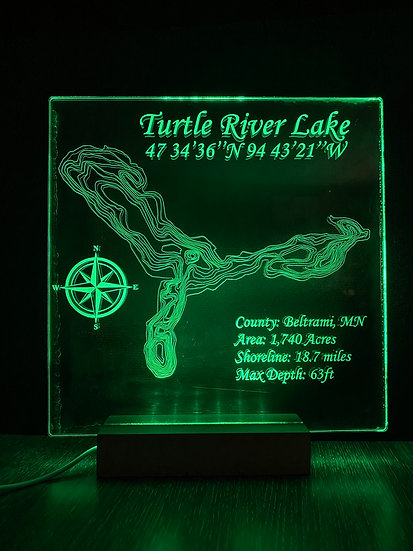 Custom Etched Acrylic Light-Up Sign