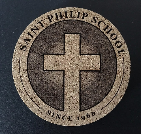Saint Philip Cork Coaster - 2 Pack
