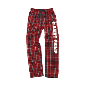 "Saint Philip Flannel Pants with ""Saint Philip"""