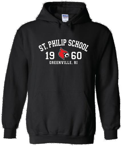 Hooded Sweatshirt - School Mascot Logo