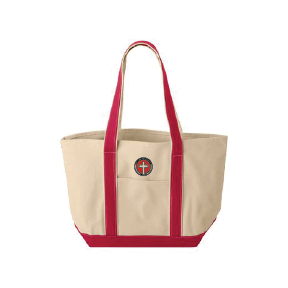 Canvas Tote Embroidered with Cross Logo