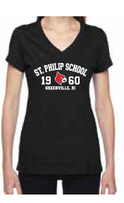Saint Philip Ladies V-Neck T-Shirt