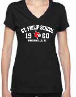 Saint Philip Ladies V-Neck T-Shirt