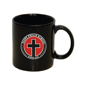 C-Handle Coffee Mug with Cross Logo