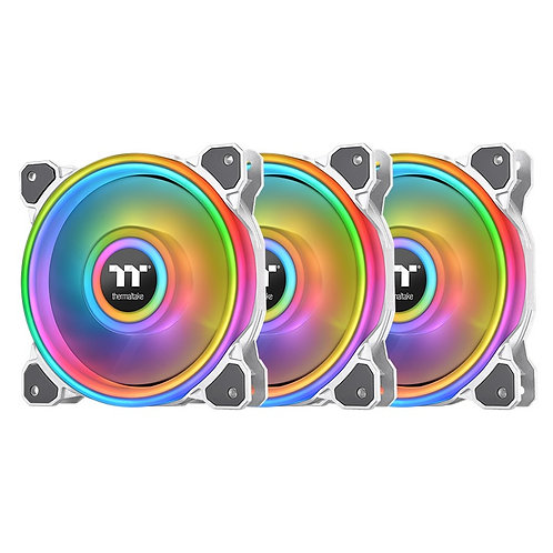Thermaltake Riing Quad 14 RGB Radiator Fan TT Premium Edition 3 Fan Pack - White