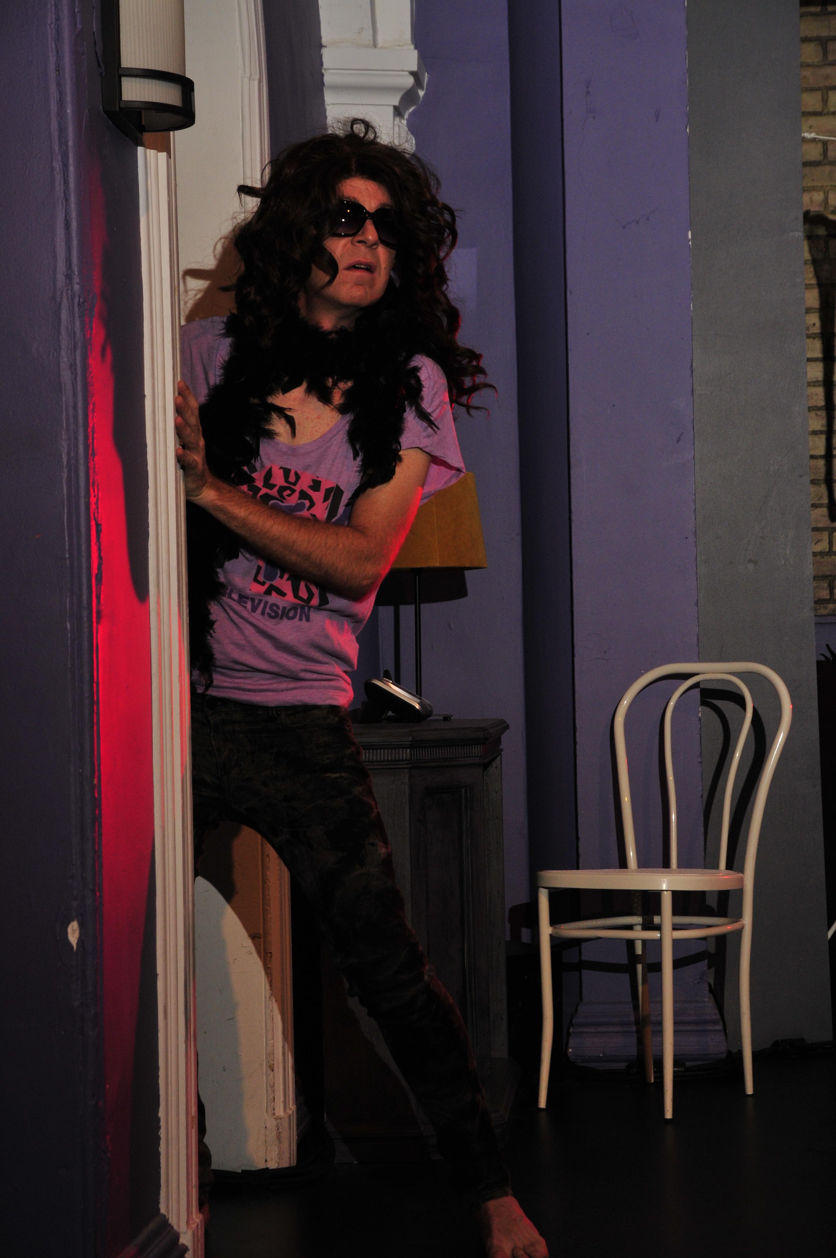 Comédien sur scène En attendant Cécile_J