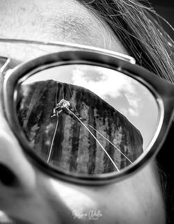 Reflexo no óculos