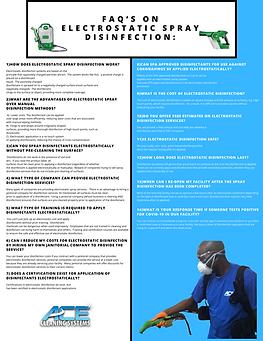 FAQ'S On Electrostatic Spray Disinfection