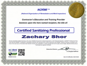 Normi Certified Sanitizing Professional